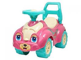 Машинка-каталка для прогулок (розовая) 0823