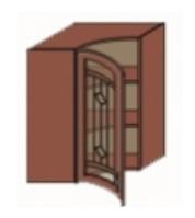 Кухня Юля 585х585 В кут гнутий 1Д У тундра золото (НОВА)