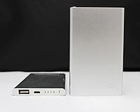 Портативное зарядное устройство павербанк powerbank зарядка Mi Sleem 12000 mAh серебро