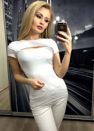 Обтягивающая футболка женская, фото 2