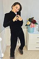 Бархатный женский спортивный костюм , фото 1