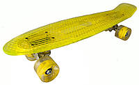 Скейт Пенни борд Penny Board Пенні Борд Светиться весь LED 22 Yellow - Желтый 54 см пенни борд