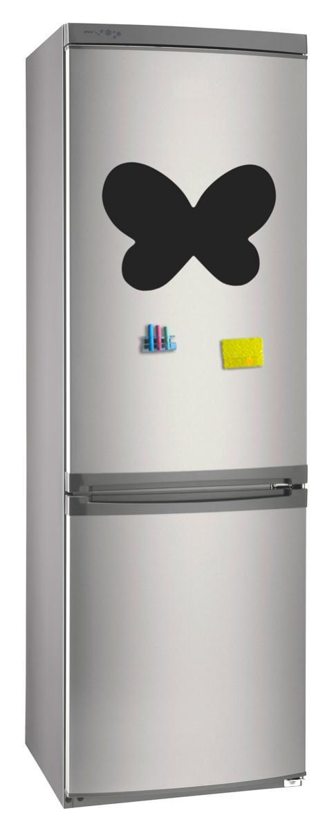 Магнитно-грифельная (меловая) доска на холодильник для записей и рисования мелом Бабочка размер 30х42 см