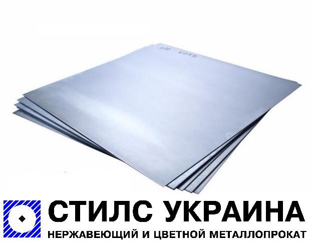 Лист нержавеющий 0,5х1000х2000мм АiSi 321 (08Х18Н10Т) пищевой, матовый