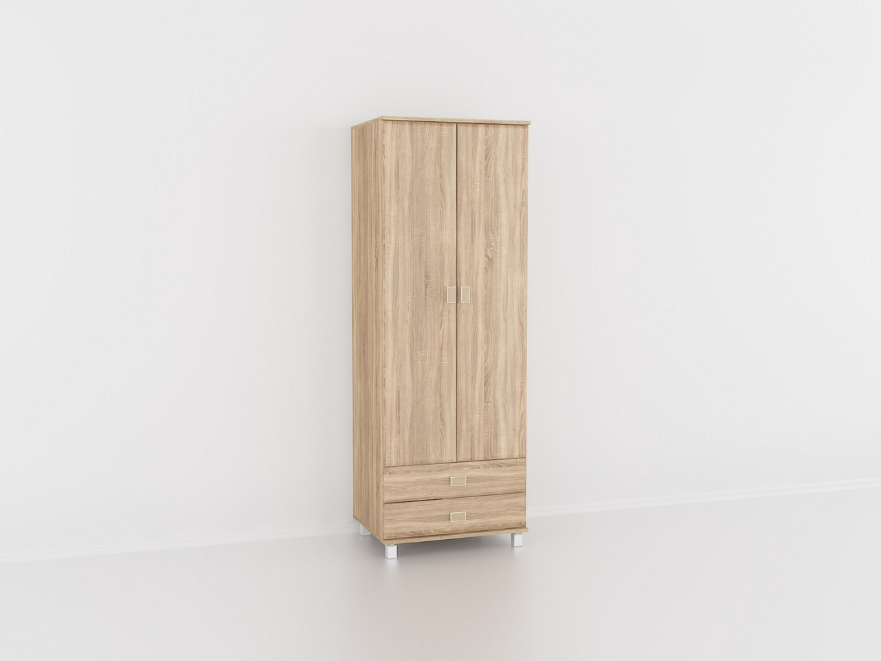 Шкаф для одежды Дуб Сонома, шкаф в гостинную, залу. Мебель из МДФ