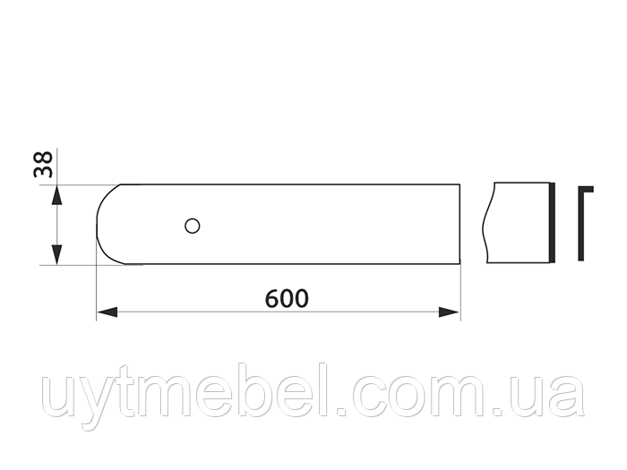 Планка торц. U ПР алюм. 28 мм (СОЗВЕЗДИЕ)