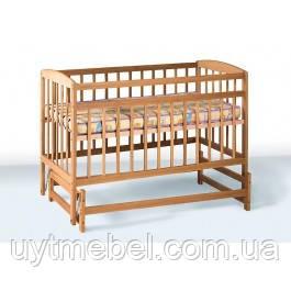 Дитяче ліжко ВЕСЕЛКА 120х60 бук (Гойдалка)