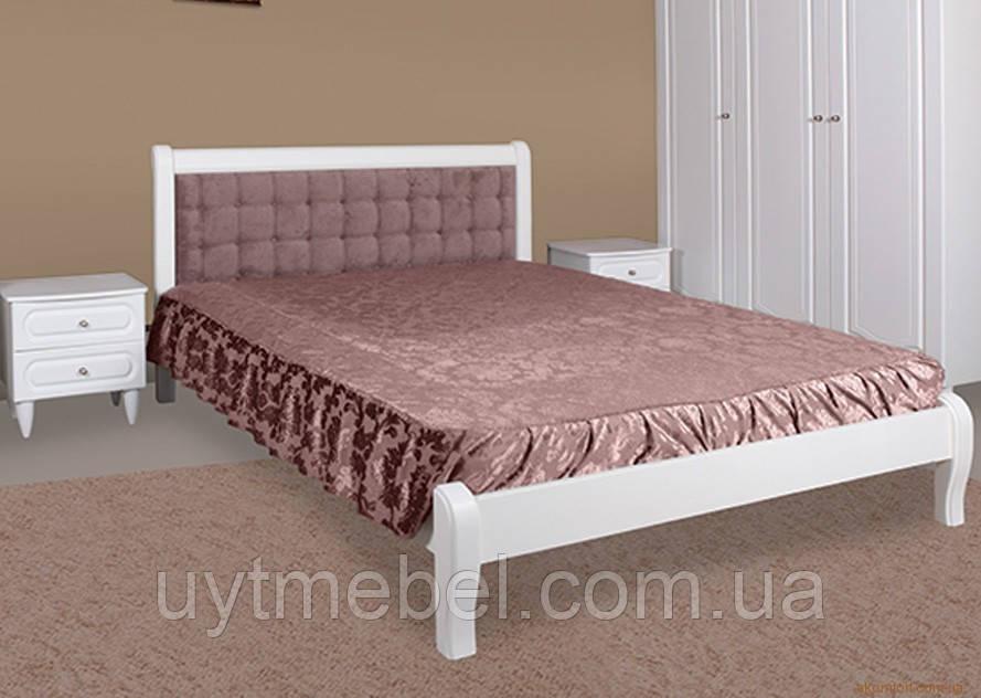 Ліжко Севілья 1600х2000 1кат. білий/Кордрі нова мокко 11 (Модуль Люкс)