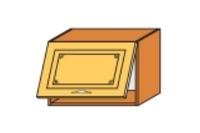 Кухня Юля М 600 В 1Д глубокая бордо глянец (НОВА)