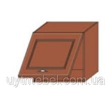 Кухня Юля 600 В 1Д высокая под вытяжку вишня коньяк оксамит (НОВА)