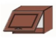 Кухня Юля 500 В 1Д низкая под вытяжку вишня коньяк оксамит (НОВА)