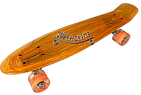 Скейт Пенни борд Penny Board Пенні Борд Светиться весь LED 22 Orange - Оранжевый 54 см пенни борд