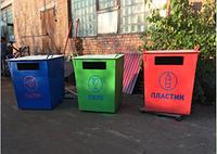 Контейнер для сортування  сміття /  Контейнер для сортировки мусора