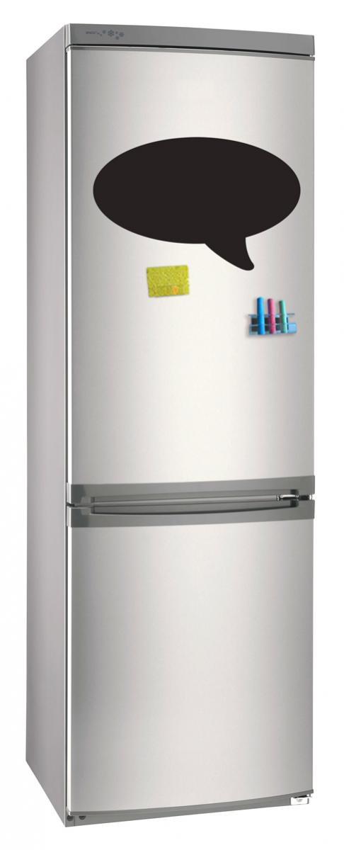Магнитно-грифельная (меловая) доска на холодильник для записей и рисования мелом Bubble размер 30х42 см