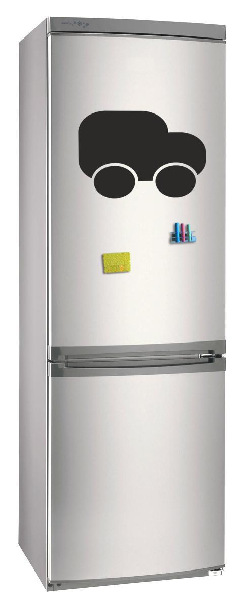 Магнитно-грифельная (меловая) доска на холодильник для записей и рисования мелом Грузовик размер 30х42 см