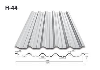 Профнастил Н-44 цинк (0.45мм)