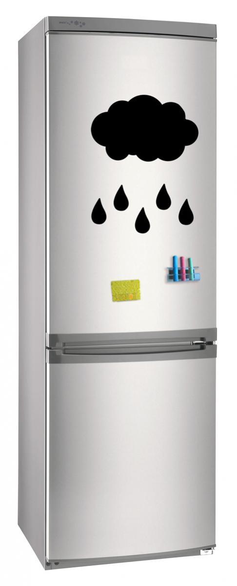 Магнитно-грифельная (меловая) доска на холодильник для записей и рисования мелом Дождь размер 30х42 см