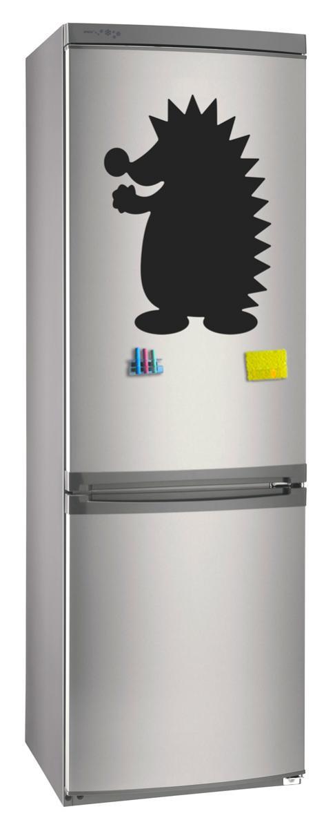 Магнитно-грифельная (меловая) доска на холодильник для записей и рисования мелом Ежик размер 30х42 см