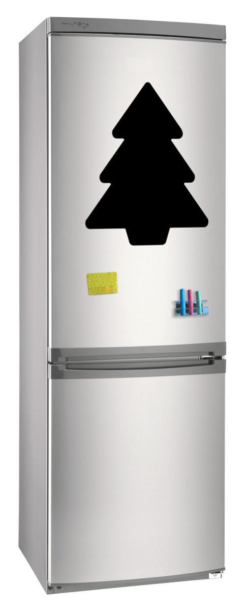 Магнитно-грифельная (меловая) доска на холодильник для записей и рисования мелом Елка_2 размер 30х42 см