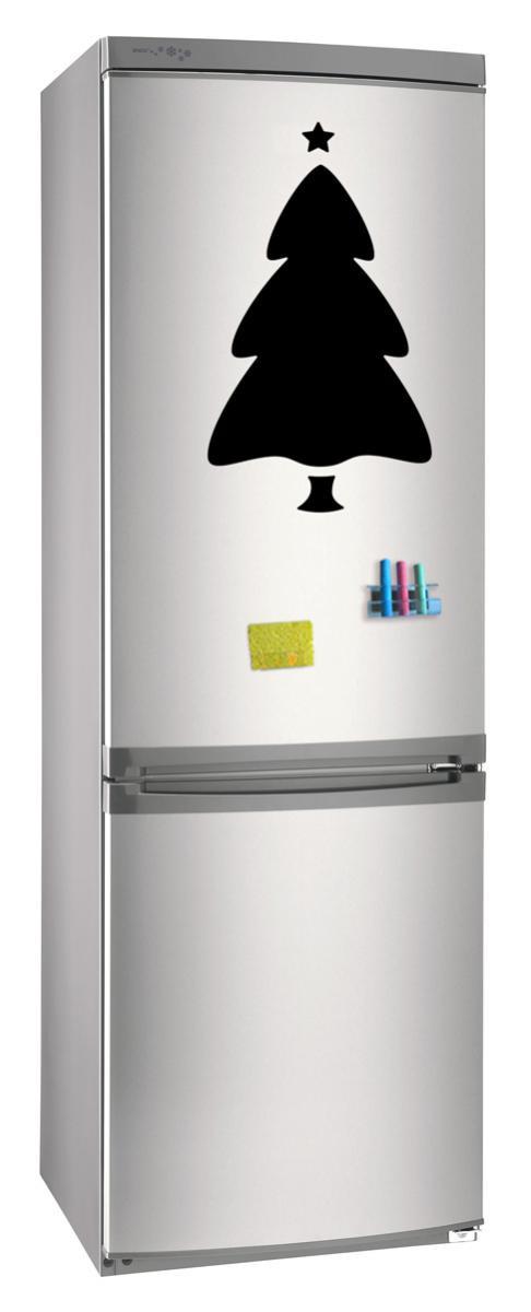 Магнитно-грифельная (меловая) доска на холодильник для записей и рисования мелом Елка_3 размер 30х42 см