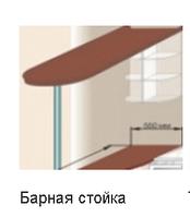 Кухня Юля барная стойка вишня оксамит (НОВА)