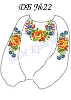 Заготовка на блузу для девочки №22