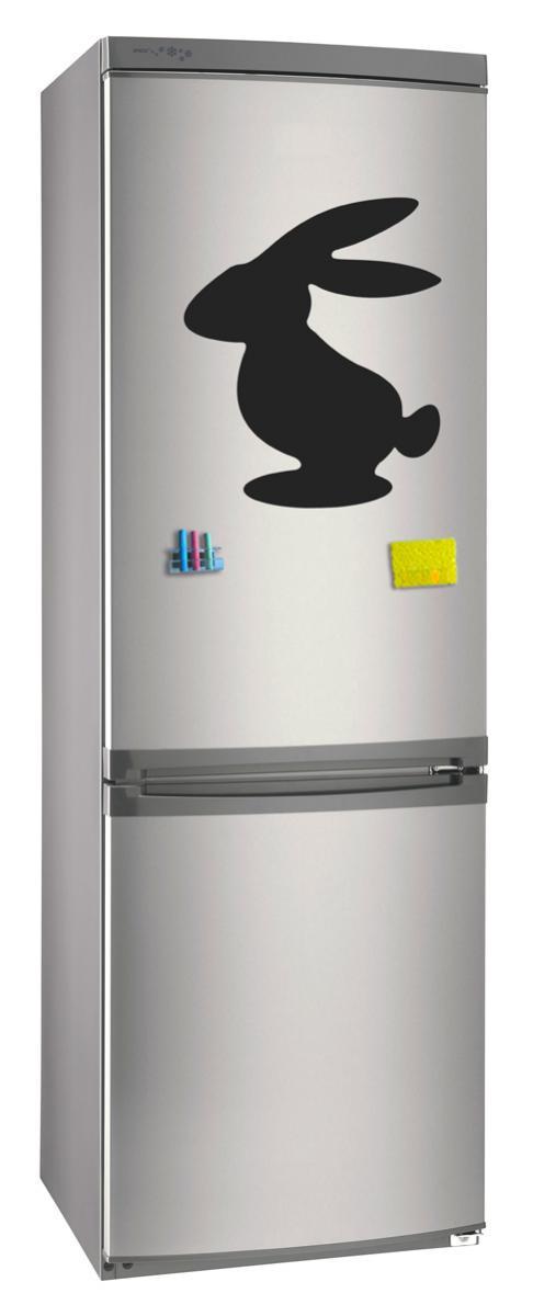 Магнитно-грифельная (меловая) доска на холодильник для записей и рисования мелом Заяц размер 30х42 см