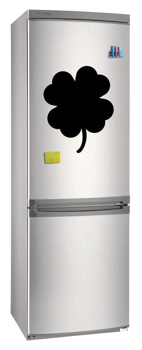 Магнитно-грифельная (меловая) доска на холодильник для записей и рисования мелом Клевер размер 30х42 см