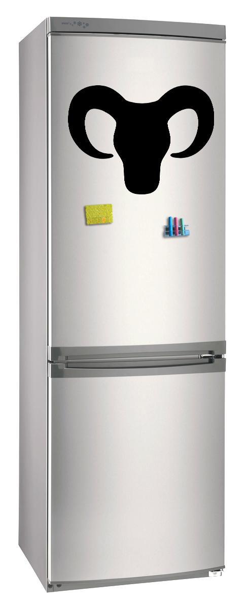 Магнитно-грифельная (меловая) доска на холодильник для записей и рисования мелом Коза_1 размер 30х42 см
