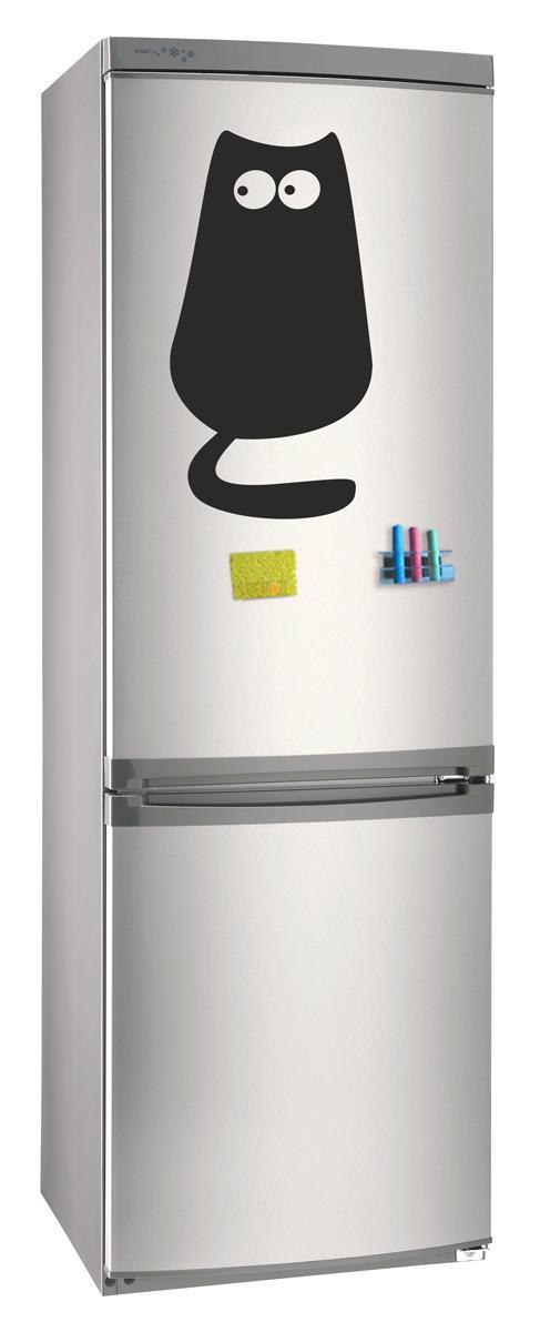Магнитно-грифельная (меловая) доска на холодильник для записей и рисования мелом Кот размер 30х42 см - PrintLab - Лаборатория принтов в Кременчуге