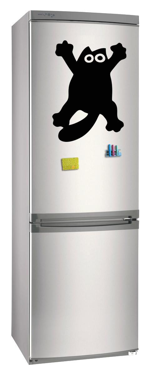 Магнитно-грифельная (меловая) доска на холодильник для записей и рисования мелом Кот Саймон размер 30х42 см