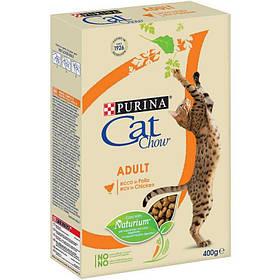 Cat Chow Adult корм для кошек с курицей и индейкой, 0,4 кг