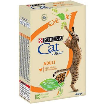 Сухой корм Cat Chow Adult для кошек с курицей и индейкой, 0,4 кг