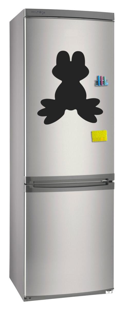Магнитно-грифельная (меловая) доска на холодильник для записей и рисования мелом Лягушка размер 35х40 см