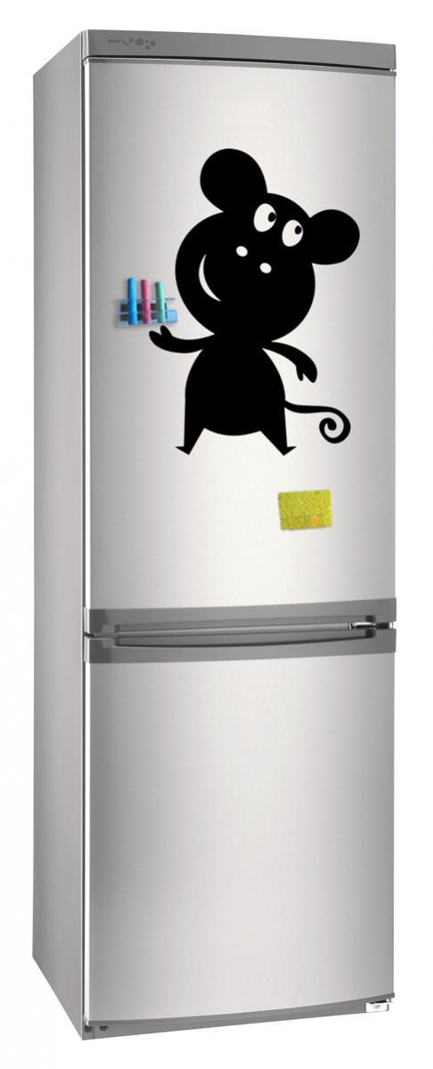 Магнитно-грифельная (меловая) доска на холодильник для записей и рисования мелом Мышь размер 30х42 см