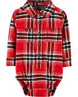 ab80df4a0e5 Рубашка-боди Oshkosh красная 9-12мес.(80см) (SS1213)