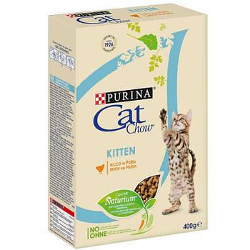 Сухой корм Cat Chow Kitten для котят с курицей, 0,4 кг