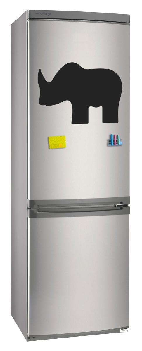Магнитно-грифельная (меловая) доска на холодильник для записей и рисования мелом Носорог размер 30х42 см