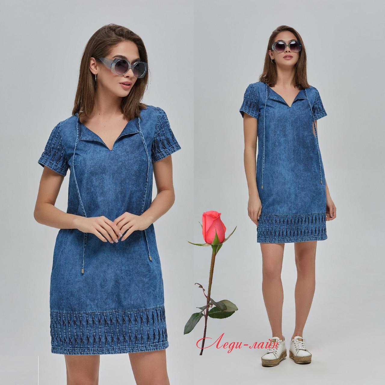 Молодежное джинсовое платье MNФ-74