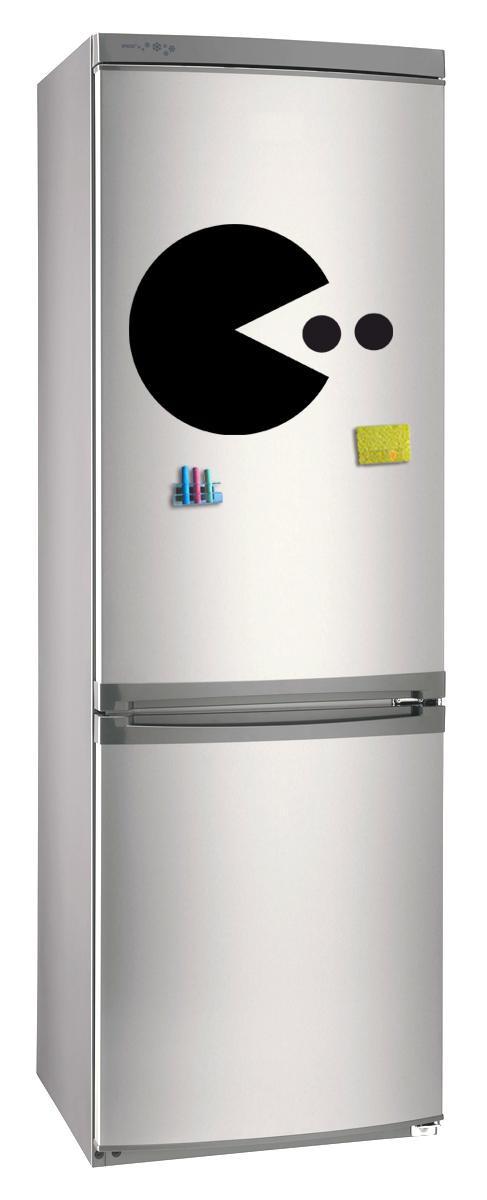 Магнитно-грифельная (меловая) доска на холодильник для записей и рисования мелом Пакмен размер 30х42 см