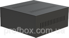 Корпус металевий MB-14 (Ш325 Г330 В140) чорний, RAL9005(Black textured)