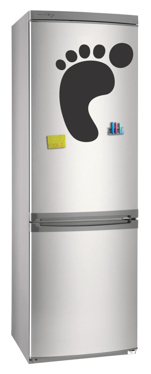Магнитно-грифельная (меловая) доска на холодильник для записей и рисования мелом След размер 30х42 см