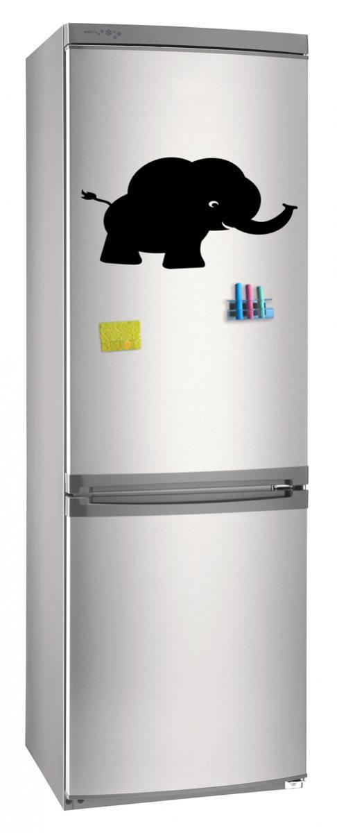 Магнитно-грифельная (меловая) доска на холодильник для записей и рисования мелом Слон размер 30х42 см