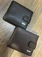 Солидный мужской кошелёк черного,коричневого цвета