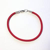 Серебряный браслет Красная нить размер 18 см, фото 1