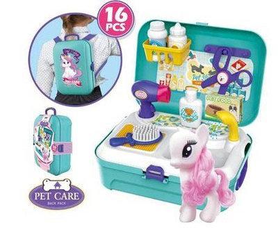 Игровой набор Парикмахерская для пони в рюкзачке