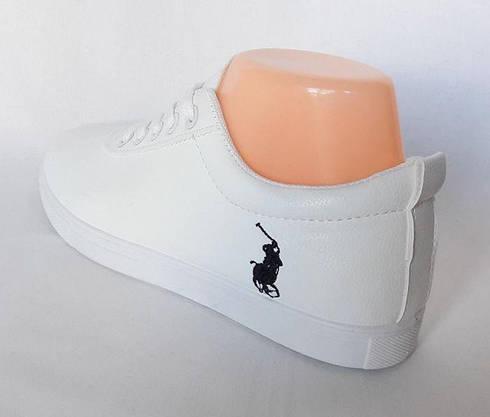 Женские Кроссовки Polo Белые Мокасины Слипоны (размеры: 38), фото 3