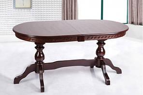 """Раскладной стол """"Оскар Люкс"""" (темный орех) 160см"""