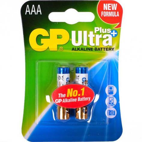 Батарейка GP 24 AUP-U2 щелочная LR03 AUP, AAA Alkaline Ultra+  2шт.   GP-100307, фото 2