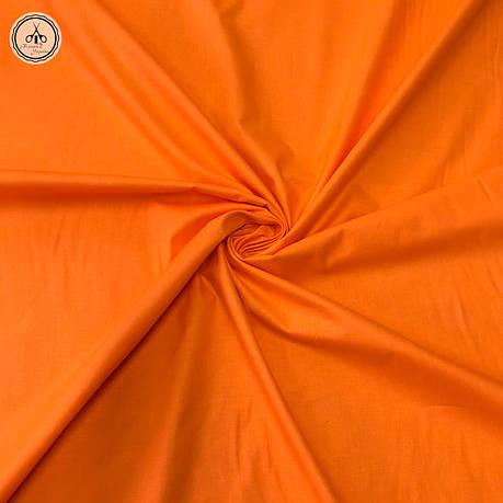 Польская хлопковая ткань оранжевая 160 см, фото 2